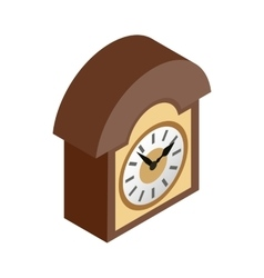 Vintage wall clock icon isometric 3d style vector