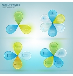 Water drop infographic 02 A vector