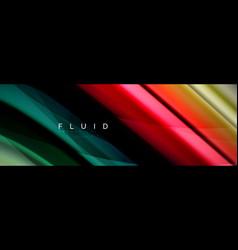 wave fluid flowing colors motion effect vector image