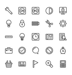 Web and mobile ui line icons 10 vector