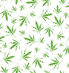 cannabis vector pattern vector image vector image