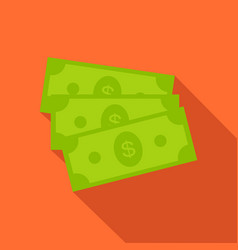 dollar bills icon in flat style vector image vector image