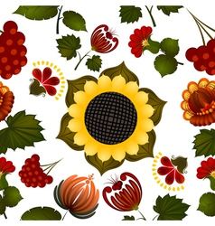 Floral pattern with elements of painting Petrikov vector image