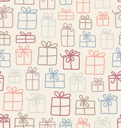 Gifts pattern vector image vector image