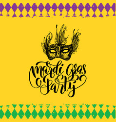 Mardi gras hand lettering fat tuesday vector