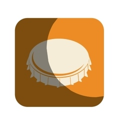 metal cap drink isolated icon vector image