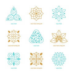 set of logo design templates and symbols vector image vector image