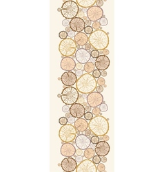 Wood log cuts vertical seamless pattern background vector image
