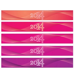 2014 banner vector image vector image