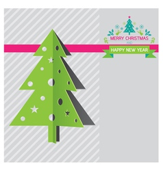 Christmas Tree and New Year Background vector image vector image