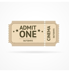 color ticket vector image vector image
