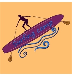 Colored surf lable vector image