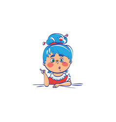cute cartoon of girl teacher vector image vector image