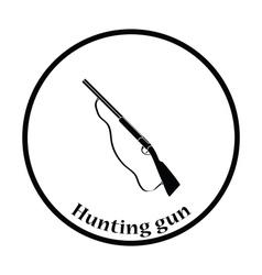 Hunting gun icon vector image vector image