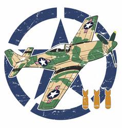 world war ii aircraft vector image vector image