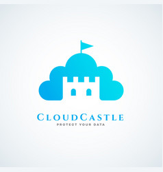 cloud castle vector image