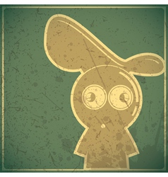 Funny character on grunge background vector image vector image