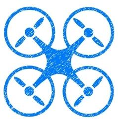 Nanocopter Grainy Texture Icon vector image vector image