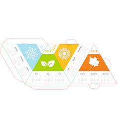 pyramid calendar 2018 four seasons vector image vector image