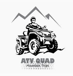 atv quad bike stylized silhouette symbol design vector image