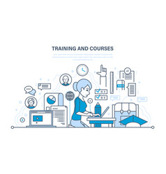 Education training distance learning knowledge vector