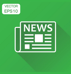 newspaper icon business concept news symbol vector image