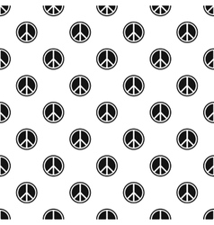 Peace sign pattern simple style vector image
