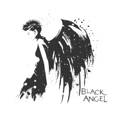 The modern girl with wings vector image