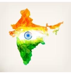 Watercolor indian map vector