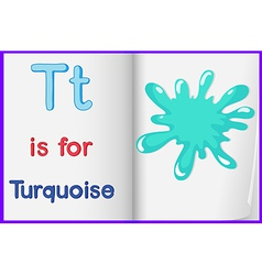 A picture of turquoise splash in book vector