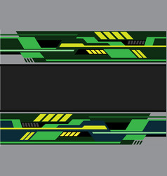 Abstract green black yellow futuristic technology vector