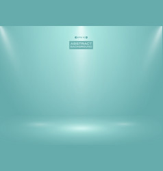 abstract of blue mint color in studio room vector image