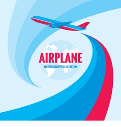 Airplane - concept vector