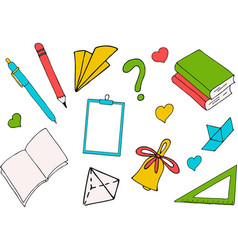 back to school a colored inscription on white vector image