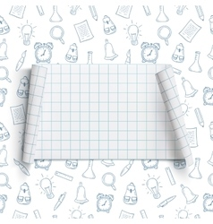 Back to School background template vector