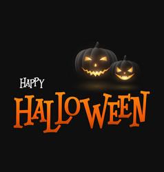 banner cartoon halloween pumpkins vector image