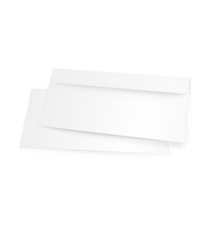 blank white envelope mockup isolated on white vector image