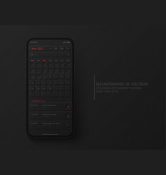 Calendar mobile ios app june 2022 ui ux vector
