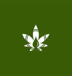 Cbd cannabis marijuana hemp pot leaf logo design vector
