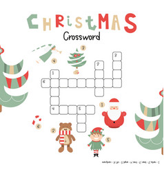Christmas crossword vector