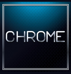 Chrome metallic font vector