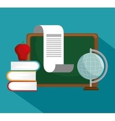 Collection school education online symbol vector