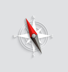 compass arrow isolated 3d vector image
