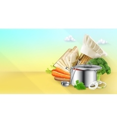 Cooking background vector