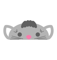 Cute furry cat animal vector image