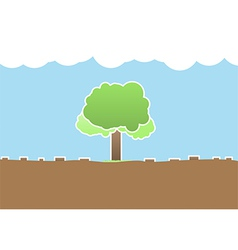 Deforestation vector