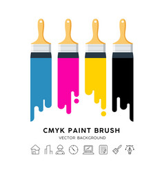 design colorful paint brush isolated vector image
