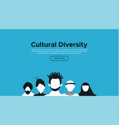 diverse culture landing page template concept vector image