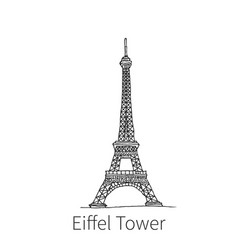 eiffel tower drawing sketch vector image