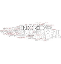 endorsement word cloud concept vector image